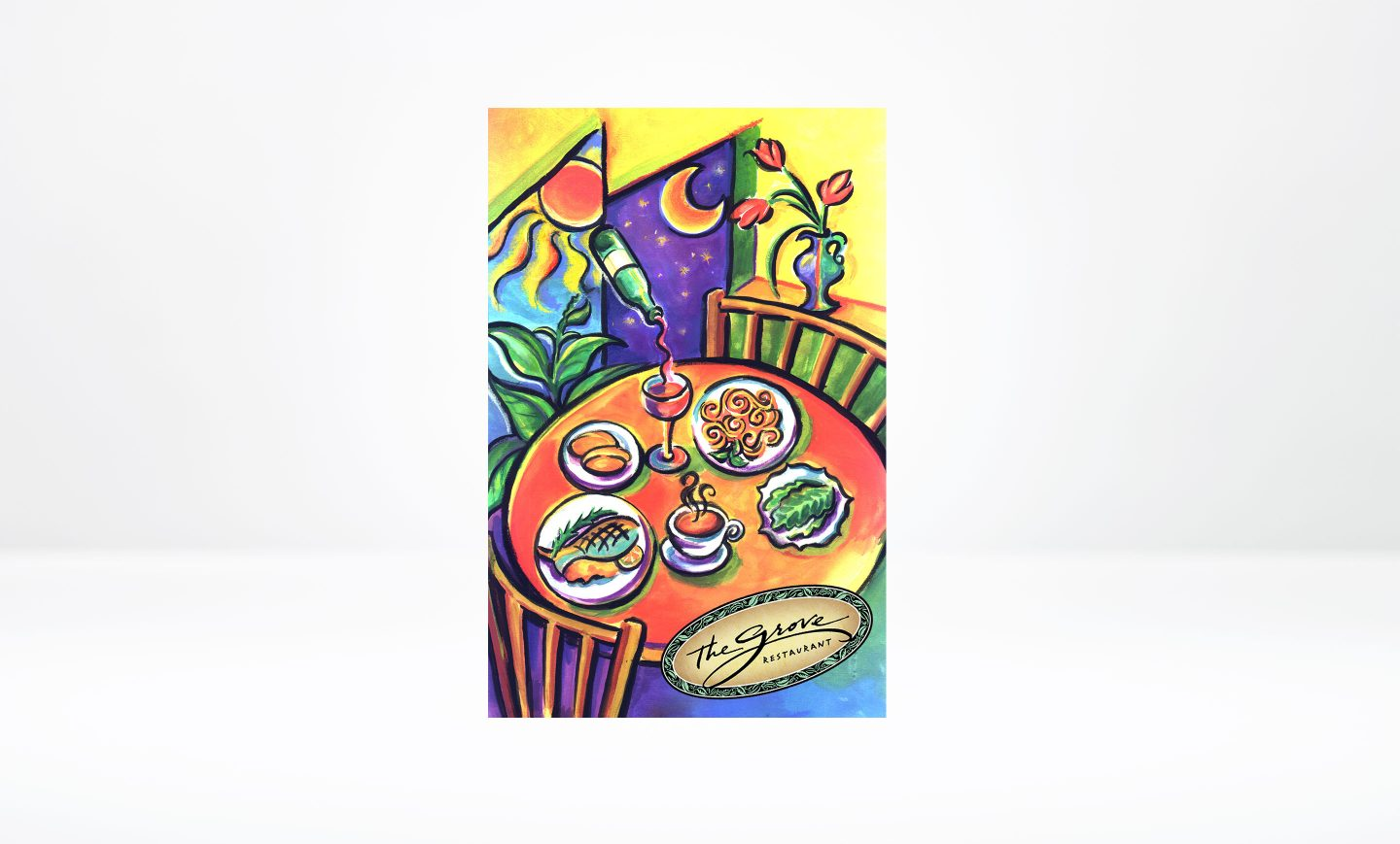 The Grove Restaurant – Menu Cover