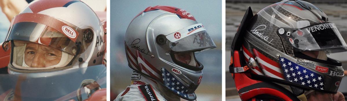 Mario Andretti's helmets