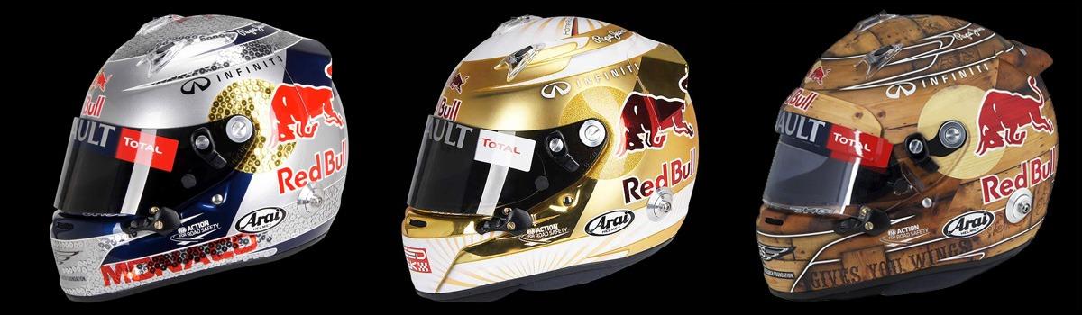 Sebastian Vettel's helmets