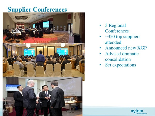 Supplier conference