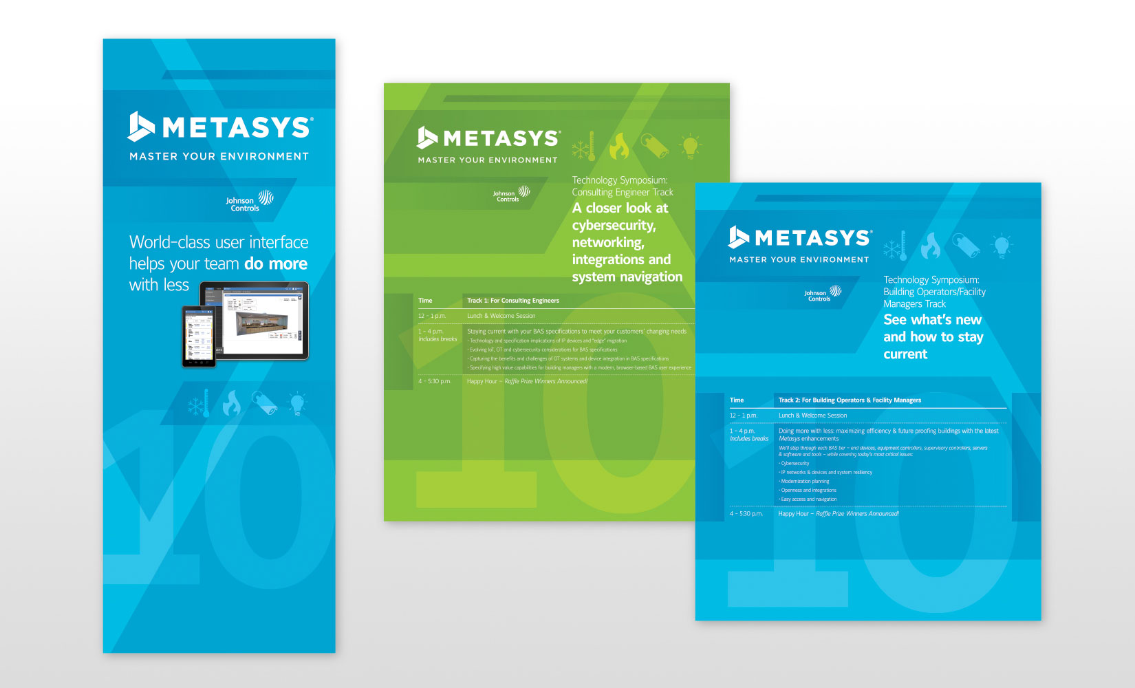 Johnson Controls Metasys Tradeshow Wall Graphics