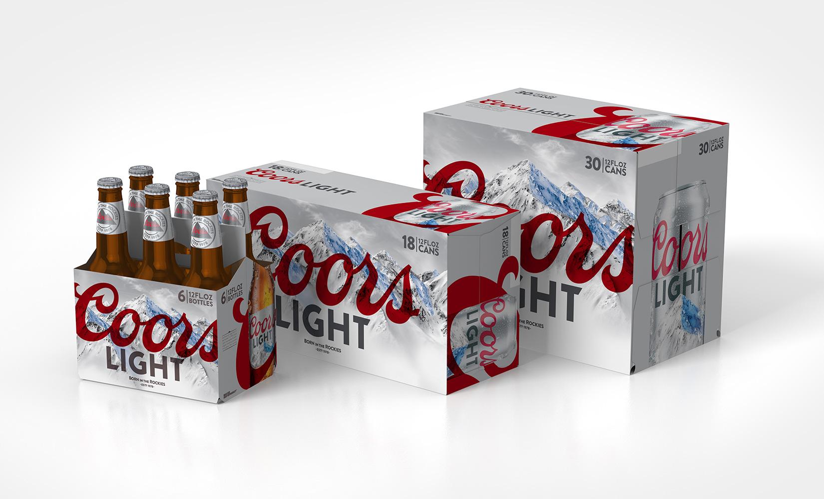 MillerCoors Coors Light Packaging Prototypes