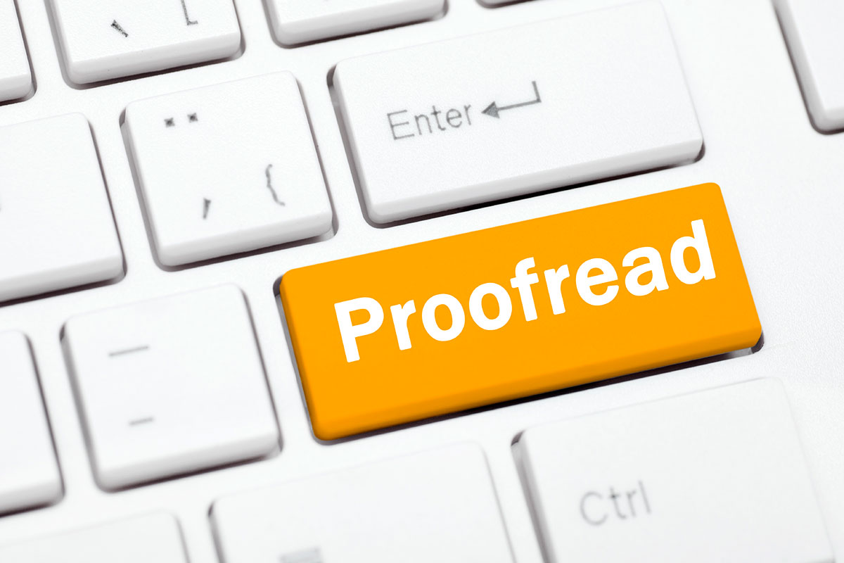 Proofread keyboard