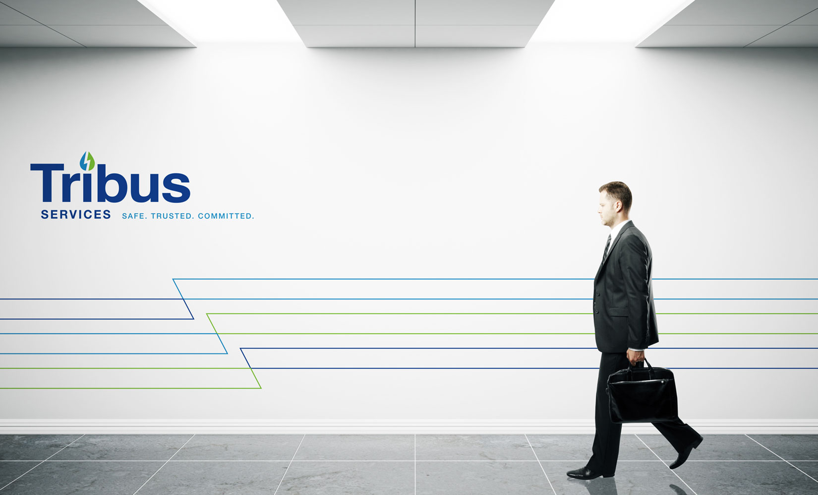 Tribus Branded Environment - Wall graphic