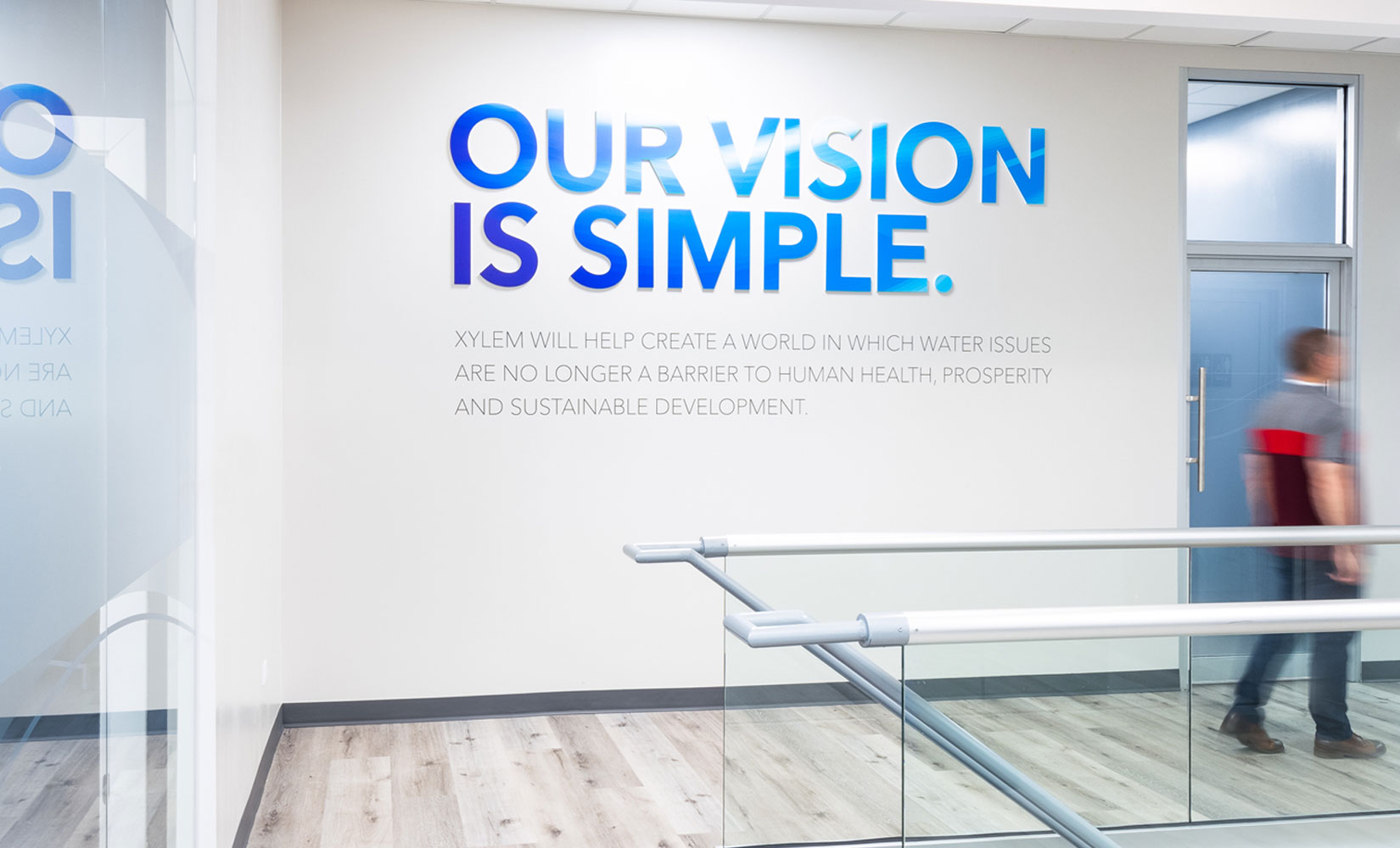 Xylem Branded Environment - Wall signage