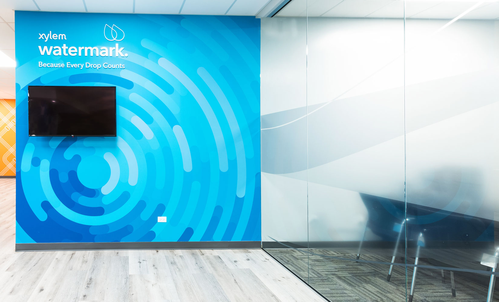 Xylem Branded Environment - Wall Watermark