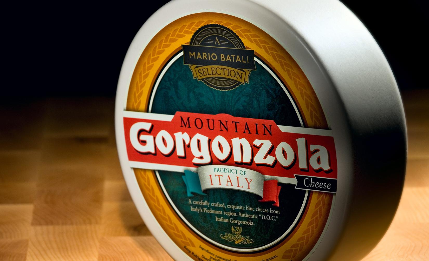 Gorgonzola Cheese Product Label
